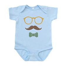 Mustache Face w/ Bowtie Infant Bodysuit