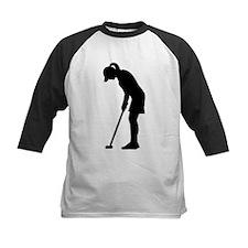 Golf woman girl Tee