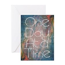 One Day at a Time Abstract Art Greeting Cards