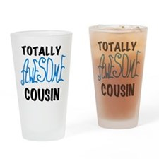 Blue Awesome Cousin Drinking Glass