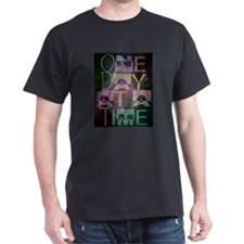 One Day at a Time Abstract Geometric Art T-Shirt