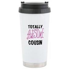 Pink Awesome Cousin Travel Mug