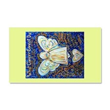 Blue & Gold Cancer Angel Car Magnet 20 x 12