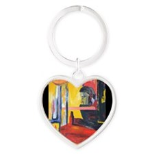 Colorful Arty Painting of Man Keychains