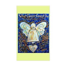 Blue & Gold Cancer Angel Decal