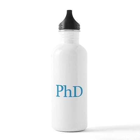 she is PhD now Water Bottle