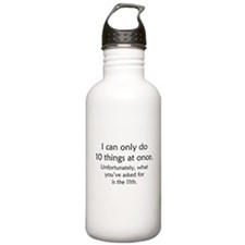 Ten Things At Once Water Bottle