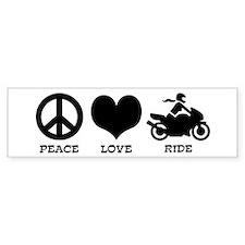Peaceloveridefemale Bumper Car Sticker