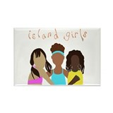 Island Girl Rectangle Magnet