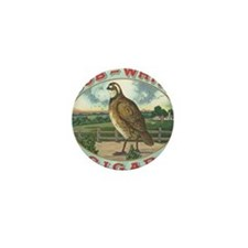 Vintage Bob White Quail Cigar Label Mini Button