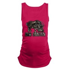 Riveted Metal Feral Hog Hunter Maternity Tank Top