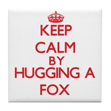 Keep calm by hugging a Fox Tile Coaster