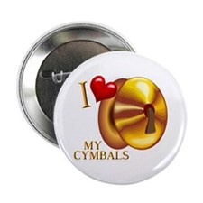 I Love My Cymbals Button