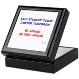 Be Afraid of Law Students Keepsake Box