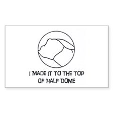 I Made It To The Top Of Half Dome Logo Decal