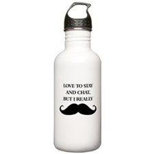 I Really Mustache Water Bottle