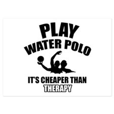 water polo is my therapy 5x7 Flat Cards