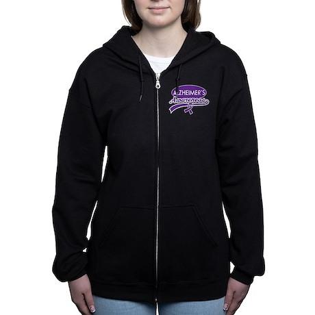 Alzheimers Awareness gift Zip Hoodie