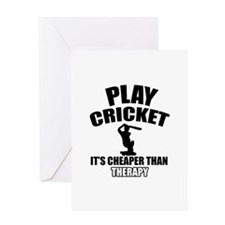 cricket is my therapy Greeting Card
