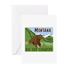 MONTANA BIG SKY COUNTRY Greeting Cards