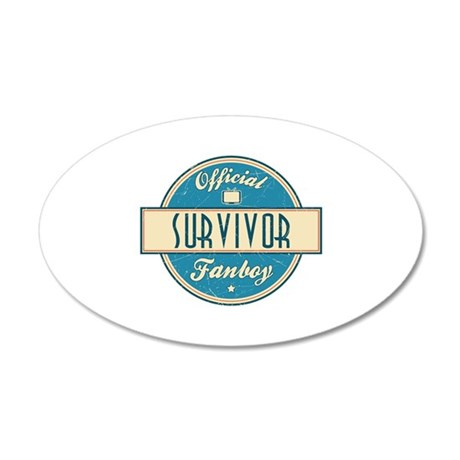 Official Survivor Fanboy 22x14 Oval Wall Peel