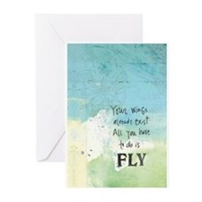 Journal Fly Greeting Cards