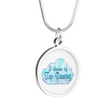 Tap Dancing Dreamer Silver Round Necklace