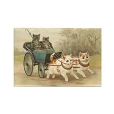 Vintage Kitty Cats Greeting Card Rectangle Magnet