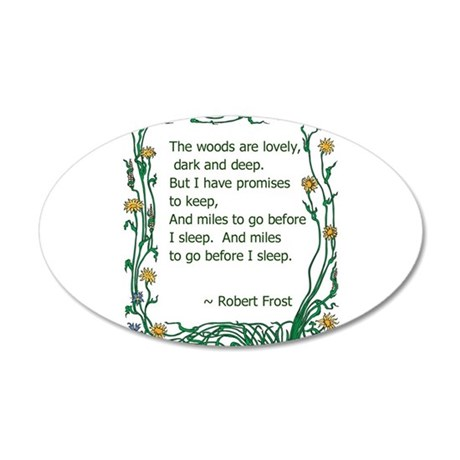 Robert Frost 35x21 Oval Wall Decal