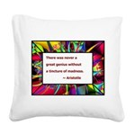 genius and madness aristotle.jpg Square Canvas Pil