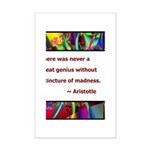 genius and madness aristotle.jpg Mini Poster Print