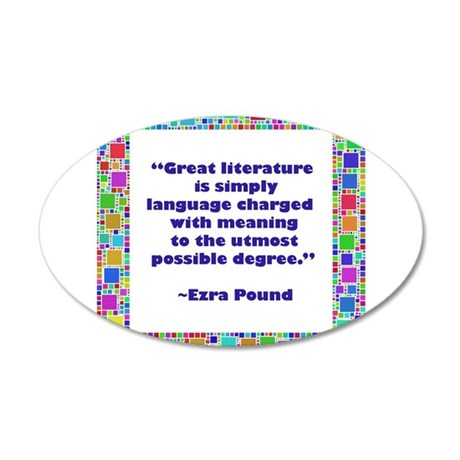 great literature.jpg 35x21 Oval Wall Decal