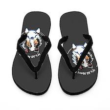 Blue Merle Sheltie IAAM Flip Flops