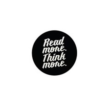Read More Think More Mini Button (10 pack)