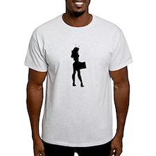 Alien Businesswoman Silhouette T-Shirt