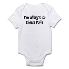 Allergic to Cheese Puffs Infant Bodysuit