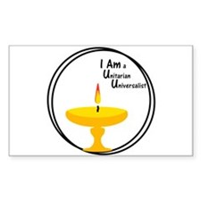 I AM UU Chalice Decal