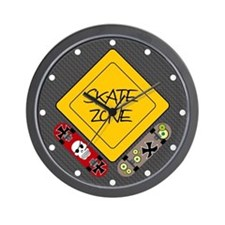 Cute Skate board Wall Clock