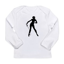 Fencer Woman Silhouette Long Sleeve T-Shirt