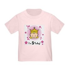 Princess 5th Birthday(blond) T