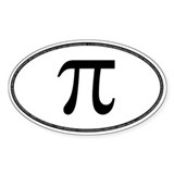 Oval PI Bumper Bumper Stickers