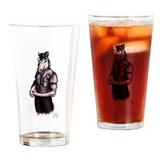 Navy LDO Mustang Black Coloring Drinking Glass