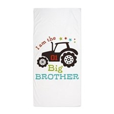 Big Brother Farmer Tractor Beach Towel