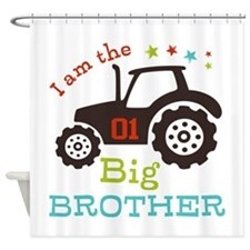 Big Brother Farmer Tractor Shower Curtain