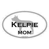 Kelpie Mom Oval Decal