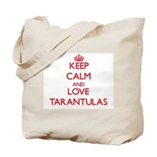 Keep calm and love Tarantulas Tote Bag