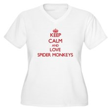 Keep calm and love Spider Monkeys Plus Size T-Shir