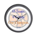 One Champion BBall 07-b Wall Clock