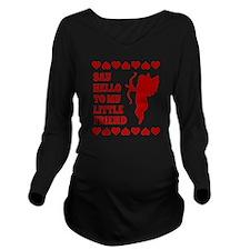 Heart Cupid Little F Long Sleeve Maternity T-Shirt