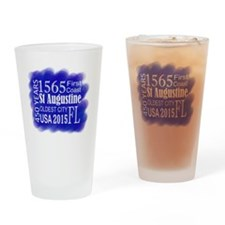 450th Anniversary in Blue Drinking Glass
